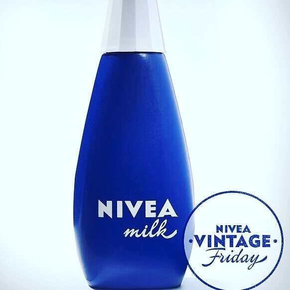 Lucky enough a few years back to visit the @nivea_de headquarters in #Hamburg, #Germany and, by far, the beat part of the trip was the archival room with book after book after book of history of the brand, ads, old packaging... It was pure #heaven  #Repost @nivea_de  We love this cute #NIVEA Body Milk from the 60s! Don't you? #niveavintagefriday