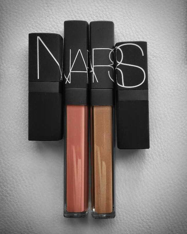 #Nars spring '16 lipgloss shades are the perfect everyday gloss-wardrobe. L: Vida Loca R: Instant Crash Both $34 & limited editions so GO NOW!