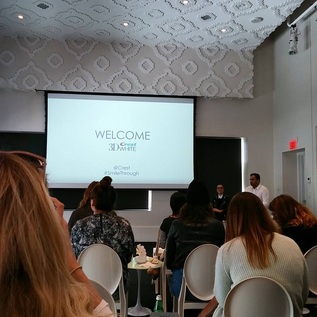 @crest 3D event this morning talking all things white! Side head - @livjudd