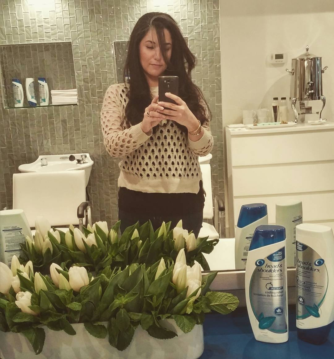 Reeults from yesterdays @headshoulders #coolingrelief launch - smooth happy hair!