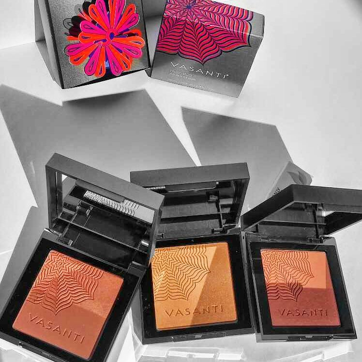 @vasanticosmetics #blush duos - new for spring! And, also, cutest 3D floral packaging!