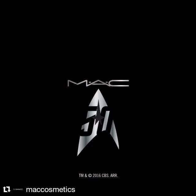 Sci-fi #beauty! Coming Sept. '16 ti select markets, @maccosmetics #StarTrek collection #Repost via @maccosmetics  #MACStarTrek