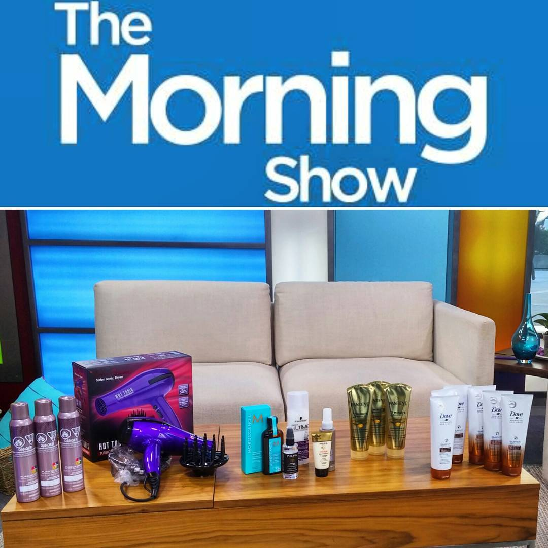 @morningshowto set from this mornings segment abt all things curly hair. Also, I sport my curls on-air, so you know it's legit.
