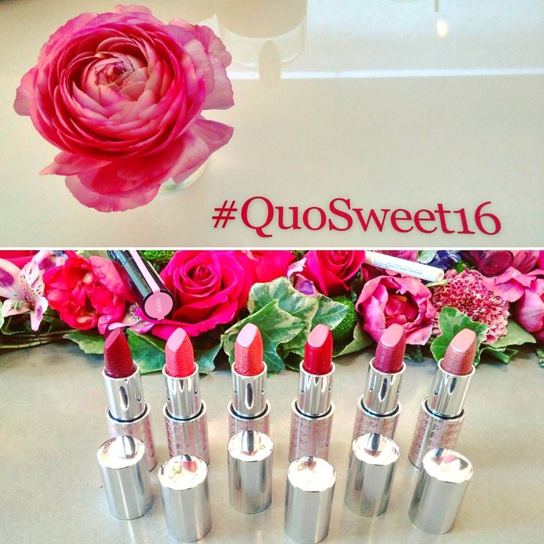 Happy sweet 16, #QuoCosmetics! New lippies, mascaras, contour kits and more coming out this year!  Head to @shoppersdrugmartofficial for all new things #Quo!