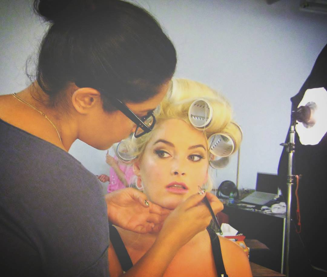 #TBT to the SS '13 @allistyle1 photoshoot dolling up the face of #ANTM cycle 10 winner @whitneyantm