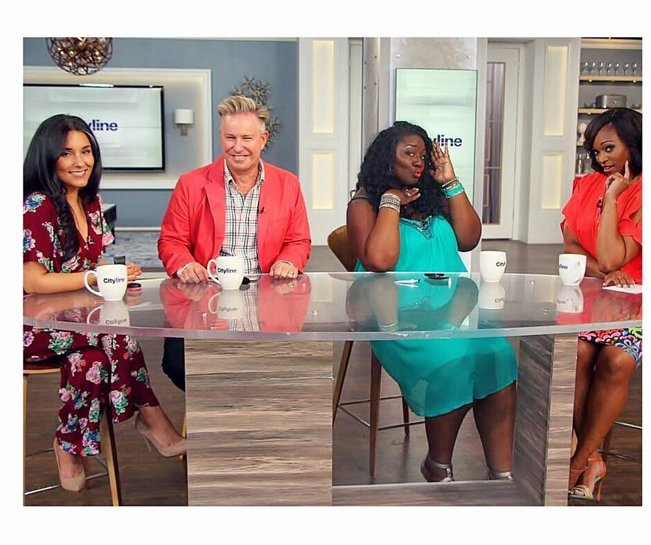 Tune in tmrw to catch my latest @Citylineca Makeover Madness episode! An audience member makeover combined with my best tips for making your morning makeup routine a snap. Oh, also, @wjrbeauty and I get funky to Barry Manilow.