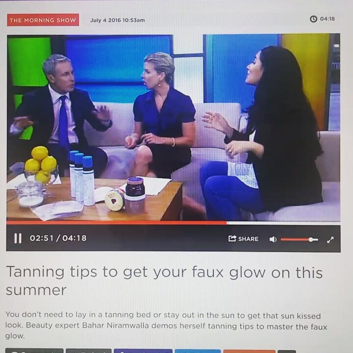 #SelfTanning mishaps? Not using the best quality self tanner (ahem - @sttropeztan)?? Here is my easy#DIY self tan mistake solution:  1/2 cup lemon juice 1 cup sugar - Use the scrub iver dark spots or all over to lighten colour.  Clip: @morningshowto
