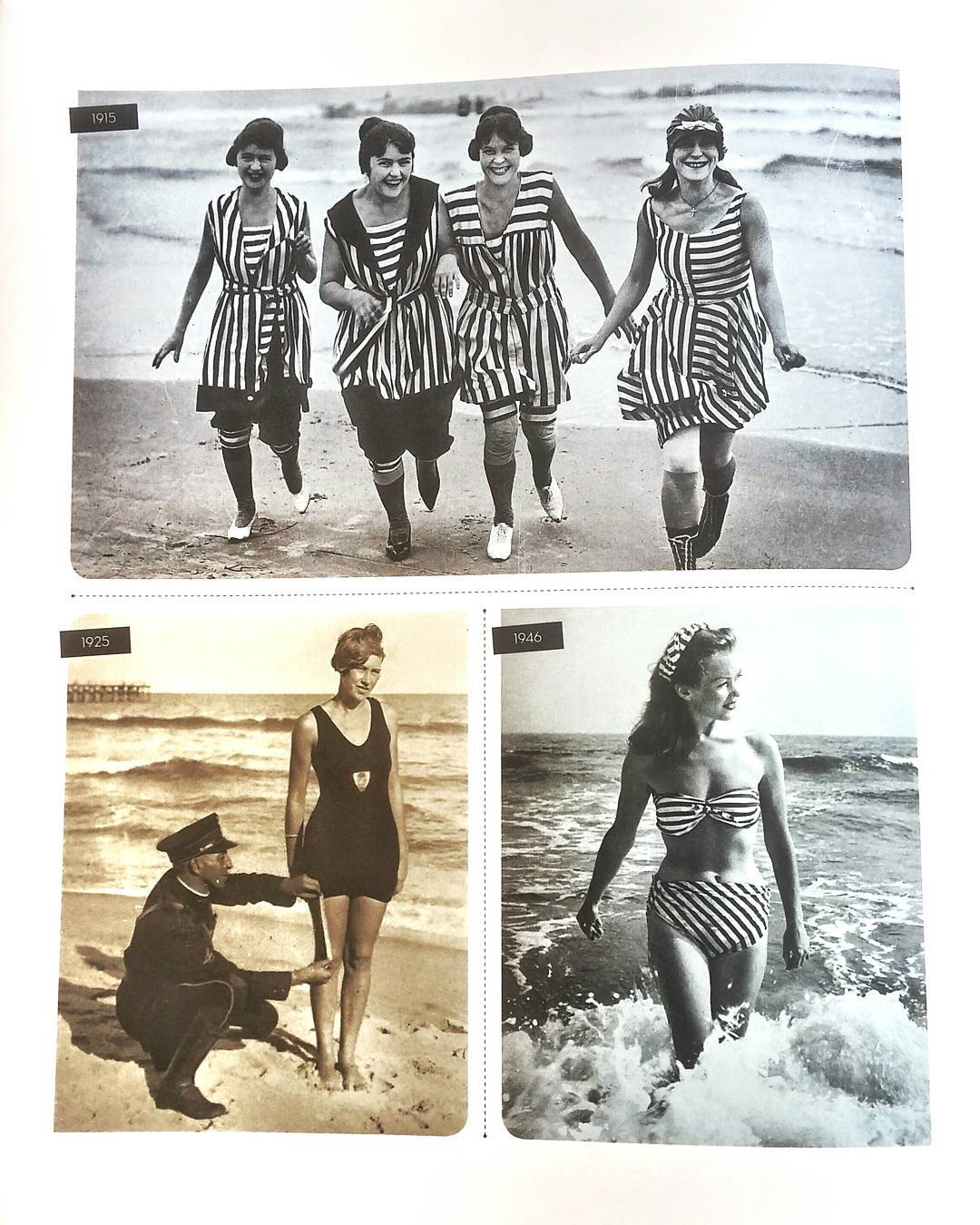 A quick #FBF coupled w/ a #FashionFriday: 20th century evolution of swimwear from 1915 to 1946(the year the bikini dropped). A lot can change in 30 years...
