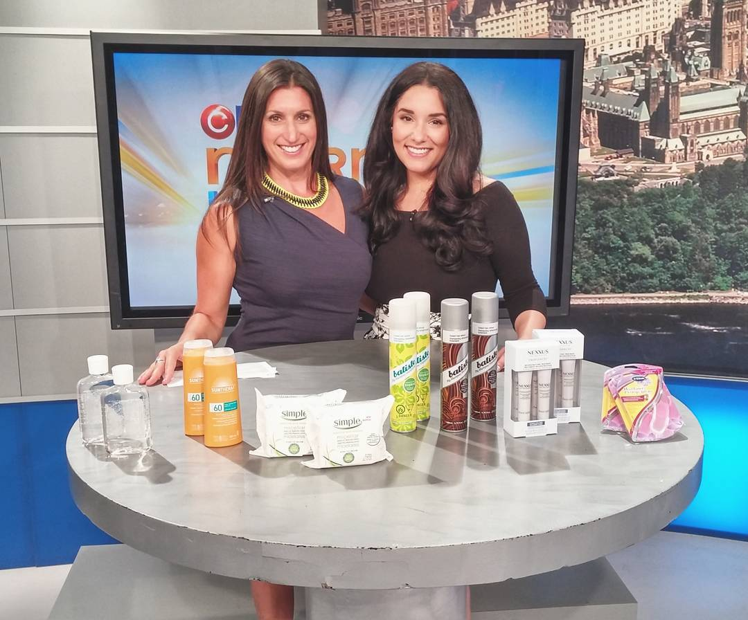 #FBF to a few weeks ago sharing some #SummerBeauty tips w/ the lovely @liannelaing on @ctvottawamorninglive - gotta ❤ our nations capital 🍁
