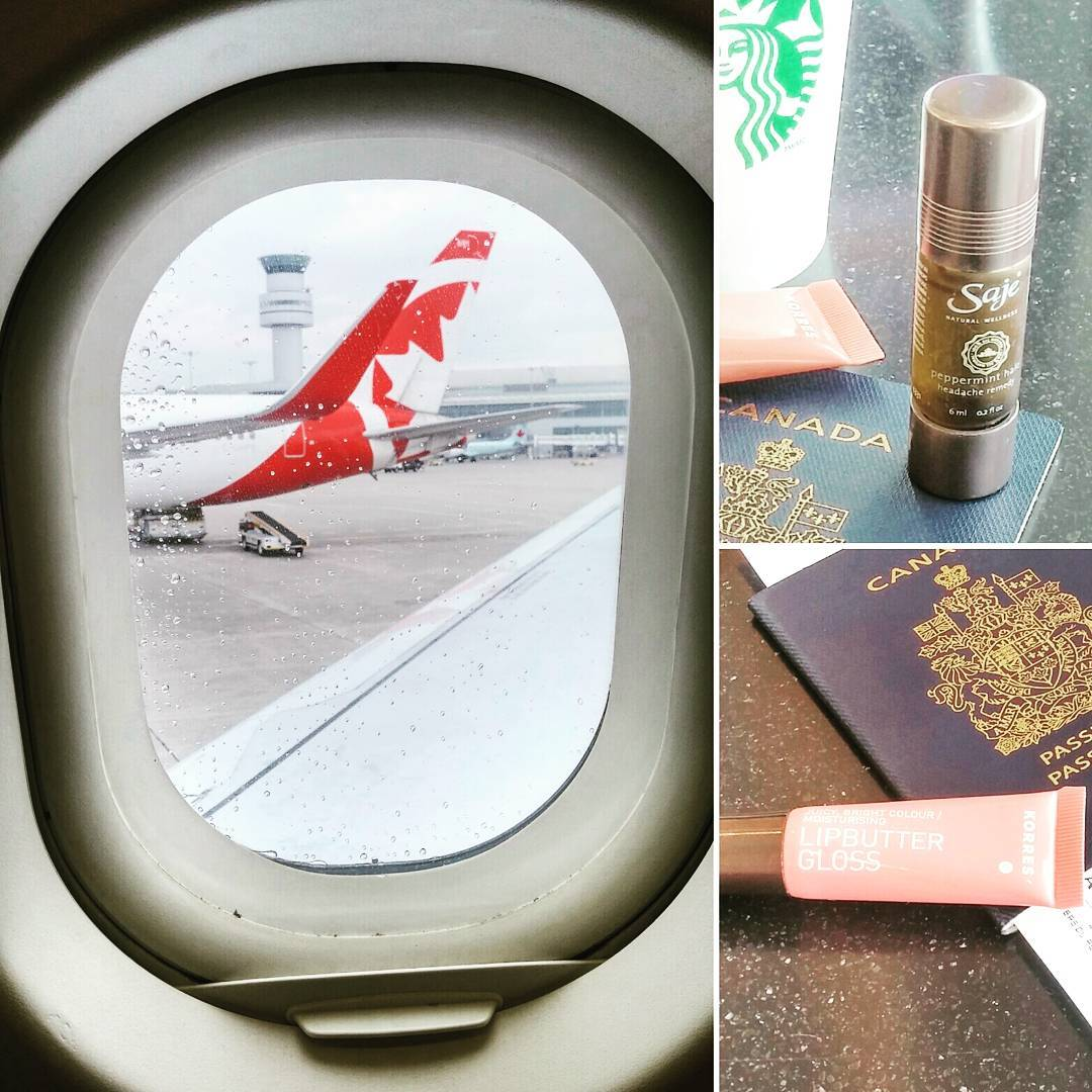 🌞, 🌴 and, of course, my peppermint halo & #lipbutter gloss.  Never leave the country without 'em. #TravelThursday #Vacation #SmellYaLater