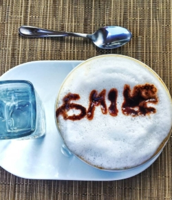 Even if it's a little crooked, don't forget to smile today!Happy Monday!