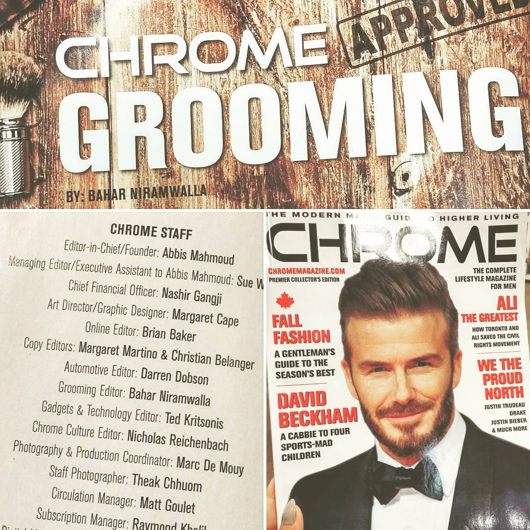 Lookee lookee, who's got a 🍪! Yet another position for the growing list: Grooming Editor for newly launched @chromecanada. Check out my pieces on anti-aging, clean essentials & scents for every type of man. On stands now!