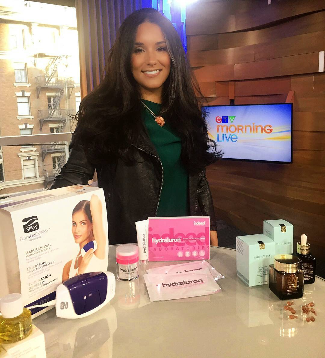 Snap from yesterday @ctvvancouver #MorningLive w/ Fall skin care switch ups to keep your skin hydrated & moisturized before the cold really hits!