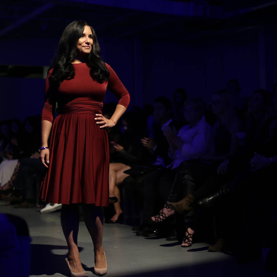 Super awkward runway pose from last week but super awesome honour to walk the runway of @startupfashionweek as one of their Women of Influence this year, alongside some very inspirational, hard-working ladies in the industry incl. convertible @henkaa dress ceo (they made the dress 📷 here) @henkaajo!
