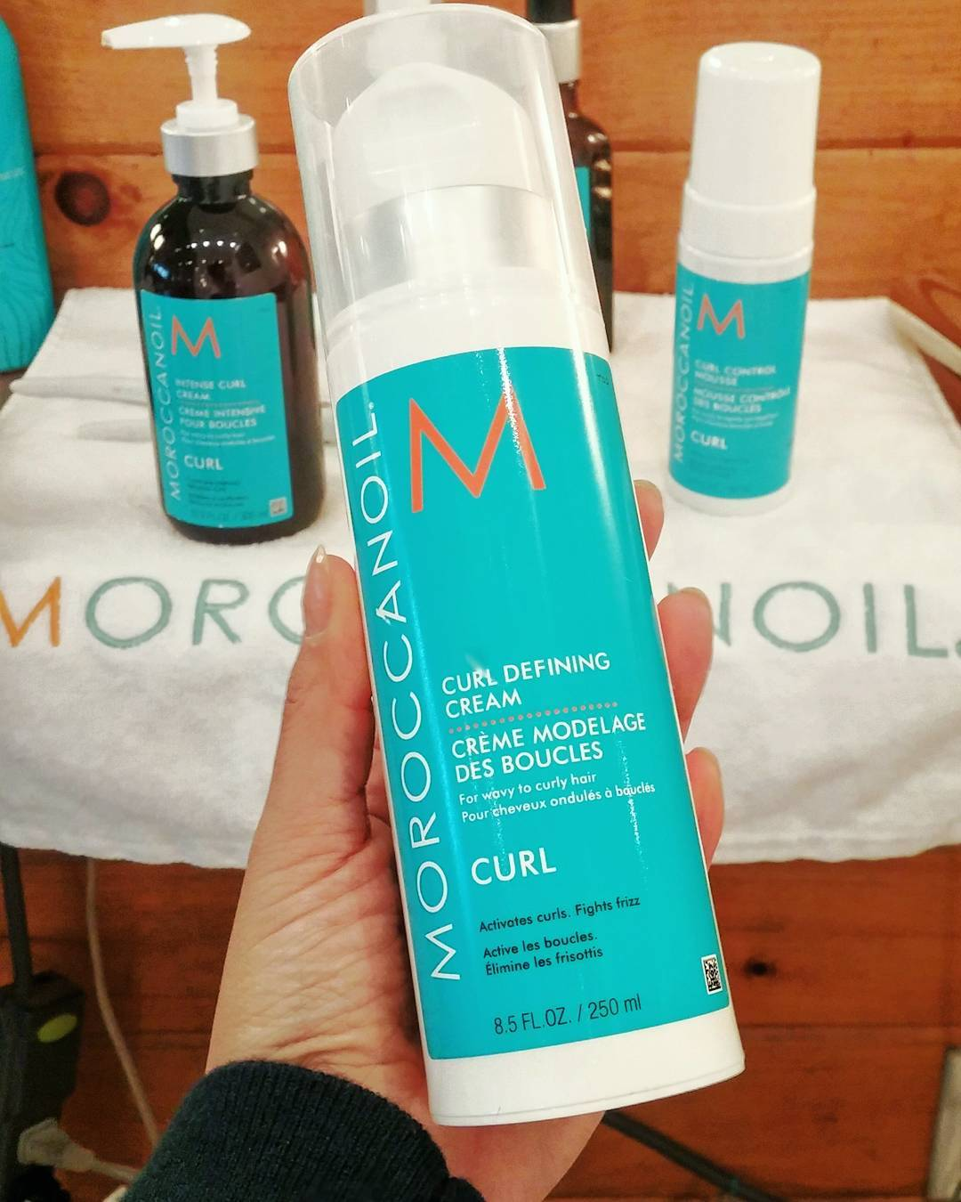 Got curls? Then get this: latest launch from @moroccanoil is all abt those waves & curls! The curl defining cream is both styling heaven & next-day revival! Lots more products in the line up - check them out online! #ArganEveryDay